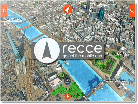 Discover the world around you with Recce 3D maps